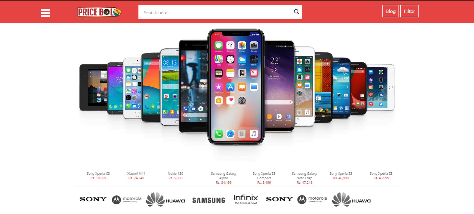 pricebol price comparison website
